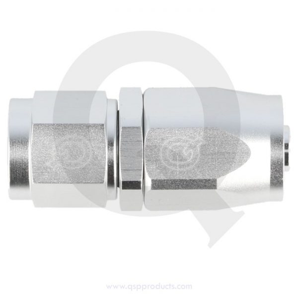 Hose end straight silver