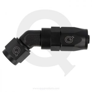 Hose end 45° forged black