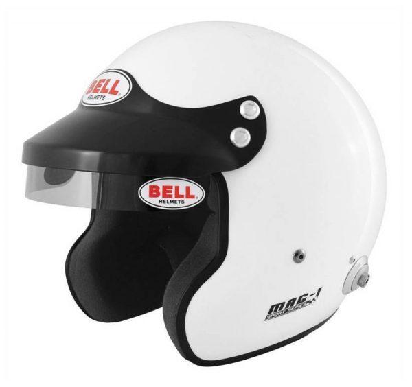 Bell Mag-1 HANS (FIA) – Wit S – 1 keer gebruikt