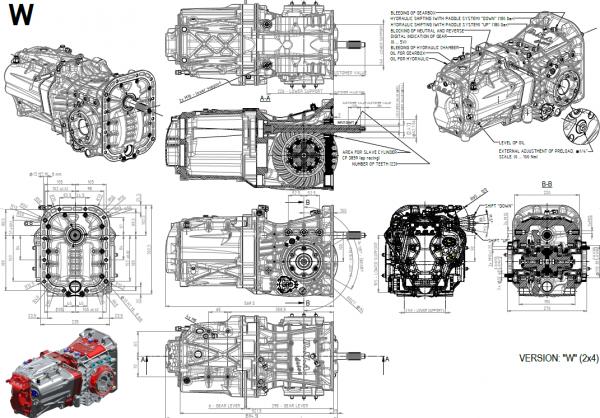 D.M.A. Gearbox – Versie W (RWD)