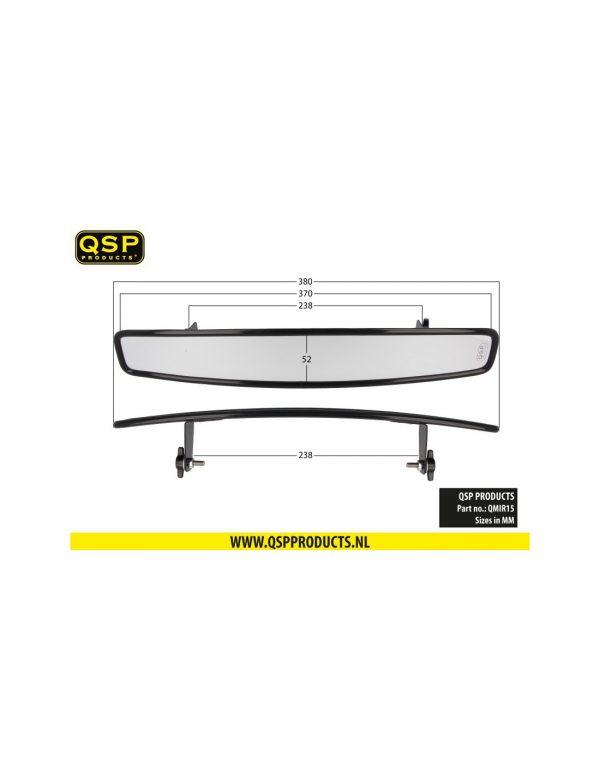 QSP Convex Racing Mirror – 380mm