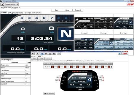 AIM MXS 1.2 5″ dashlogger