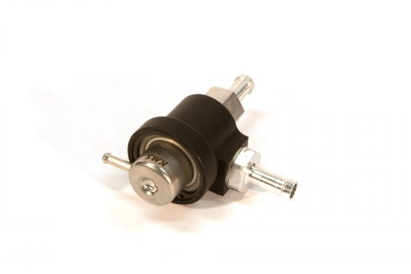 KMS Fuel pressure regulator 2-way, 3.0bar, 10mm hose fit