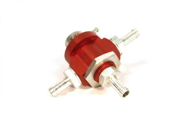 KMS Fuel pressure regulator 3-way, 4.0bar, 10mm hose fit