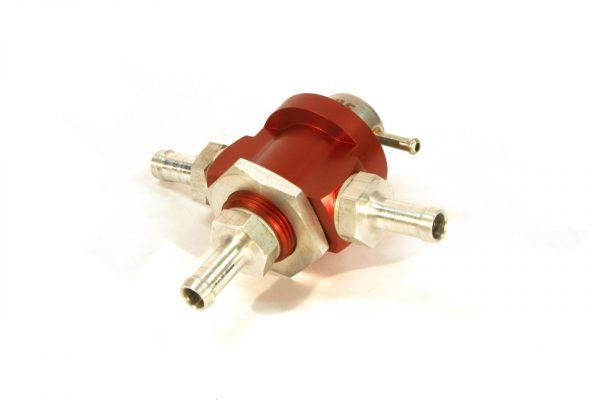 KMS Fuel pressure regulator 3-way, 3.0bar, 10mm hose fit