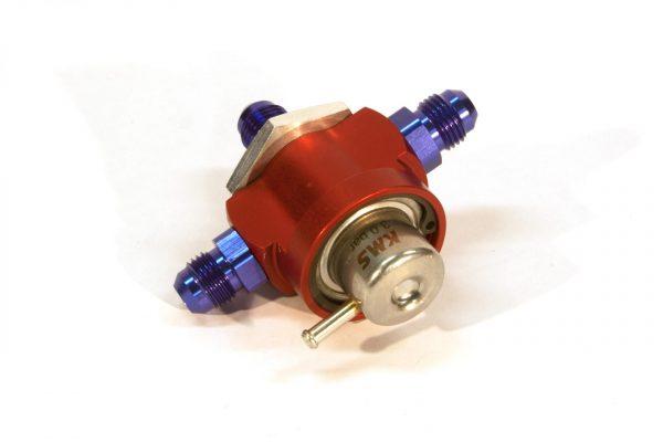 KMS Fuel pressure regulator 3-way, 3.0bar, AN-6 fitting