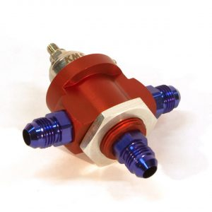 KMS Fuel pressure regulator 3-way, 0-5 bar, AN-6 fit
